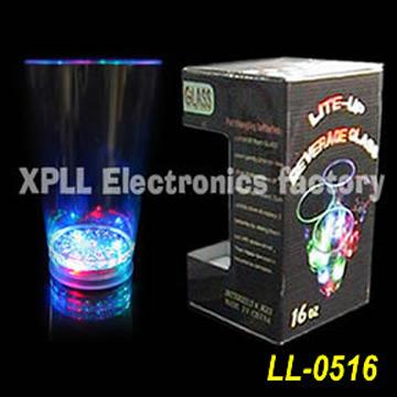 Напиток Кубок LL-0516, красивые проблесковом Кубка с 3 цветной LED.