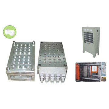 Cap Moulds with Hot Runner