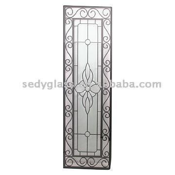 Wrought Iron Inlaid Glass (Кованые изделия инкрустированные стекло)