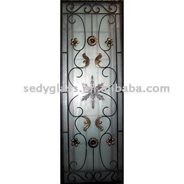 Wrought Iron Decorative Glass (Кованые изделия Декоративное стекло)