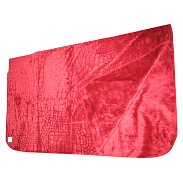 Crocodile Cutting Micro Fiber Fur Blanket (Крокодила резко Micro Fiber меховое одеяло)