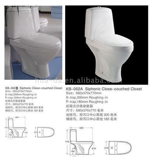 Washdown Two-Piece Toilet (KB-002) (WASHDOWN двух частей туалета (КБ-002))