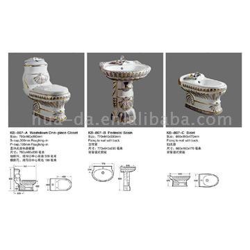 Whole Set Sanitary Ware (KB-807) (Целый набор сантехники (КБ-807))