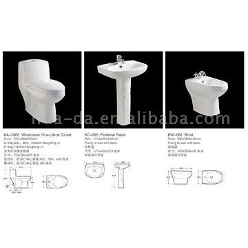 Whole Set Sanitary Ware (KA-2008) (Целый набор САНТЕХНИКА (KA 008))