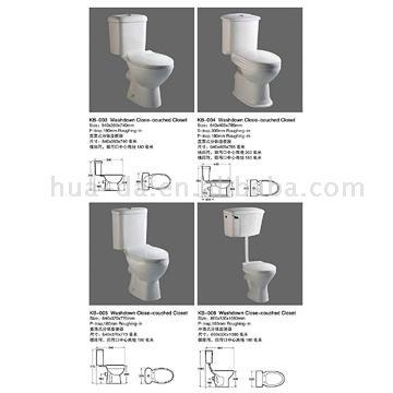 Two-Piece Toilet (KB-001) (Двухсекционный туалет (КБ-001))