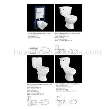 Two-Piece Toilet (KB-005) (Двухсекционный туалет (КБ-005))