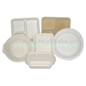 HGHY Paper Dishware, Papery Plates, Papery Soup Bowls