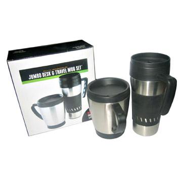 Desk Mug and Travel Mug Set (FM002) (Кружки и бюро путешествий Кружка Set (FM002))