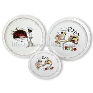 5pc Pizza Plate Sets