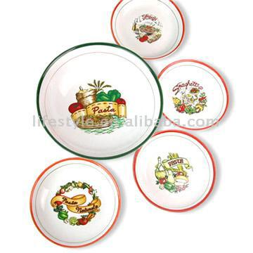 5pc Pasta Bowl Set