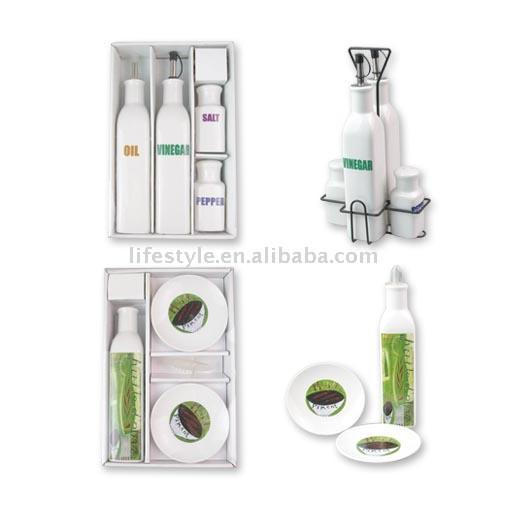 4pc Oil & Vinegar Set