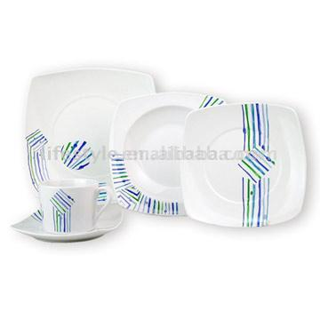20pc Decaled Porcelain Dinnerware Set