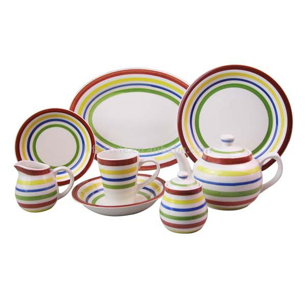 Handpainted Stoneware Dinner Set (Handpainted Керамические Dinner Set)