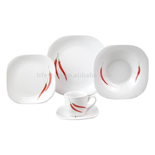 20pc Decaled Dinner Set