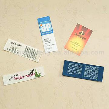 Printed Labels (Печатные этикетки)