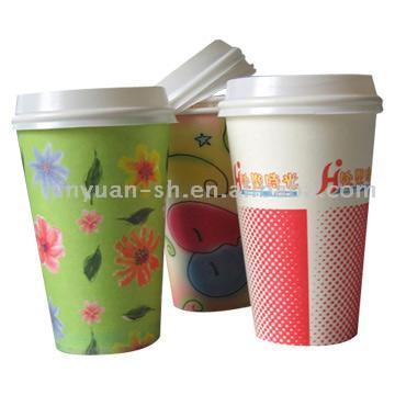 Paper Drink Cups (with Lids) (Бумага Drink кубков (с крышками))