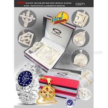 Men`s Watch Gift Set with Pendant (Мужские часы Gift Set с подвеской)