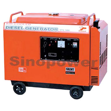 Single-Phase Low Noise Diesel Generator
