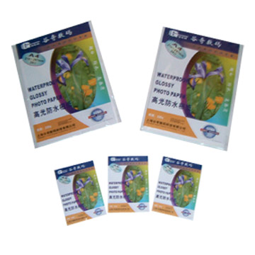 Glossy Photo Paper Waterproof with Adhesive (Glossy Photo Paper водонепроницаемый с клеем)