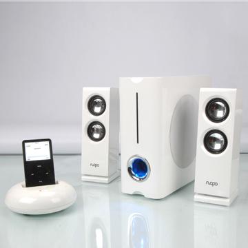 Wireless iPod Compatible Speaker 2.1 Channels (Wireless iPod-kompatible Lautsprecher 2.1-Kanäle)