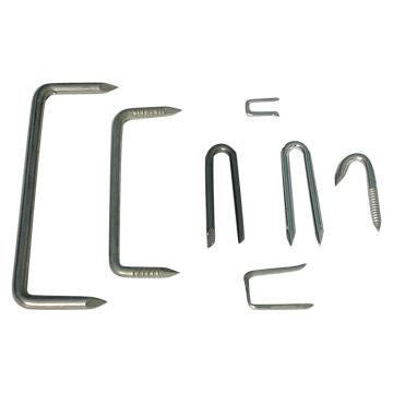 Steel Dog Nails U Shaped Square