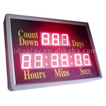 LED Time and Count (Светодиодные Время и графа)