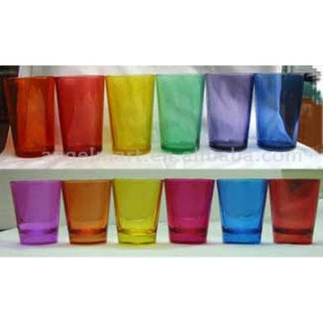 Colored Glass Cups (Цветное стекло кубки)