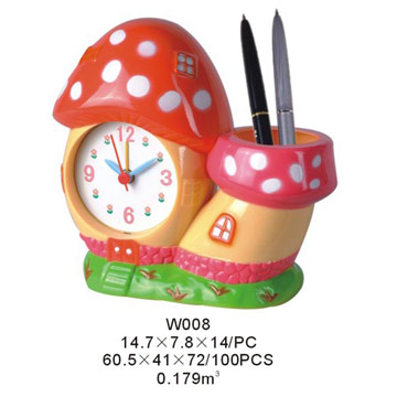 Alarm Clock with Penholder