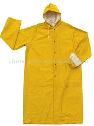 PVC/Polyester/PVC Raincoat (ПВХ / полиэстер / ПВХ Плащ)