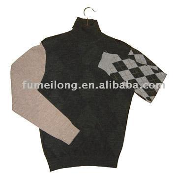 Men`s Turtleneck Cashmere Pullover