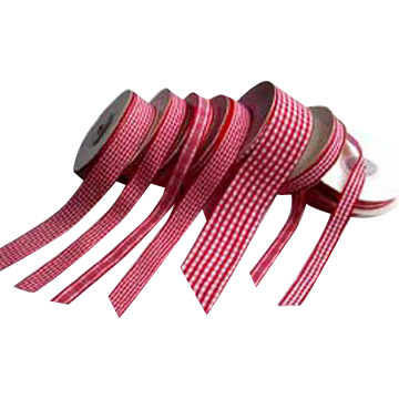 Gingham Ribbons, Polyester Ribbons, Ribbons and Garment Ribbons (Gingham лент, полиэстер, ленты и одежды ленты)