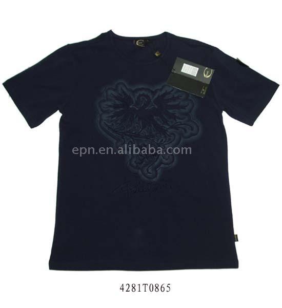 100% Cotton Men`s Round-Neck T-Shirt (100% хлопок первенство-Neck T-Shirt)