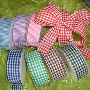 100% Polyester Plaid / Check / Gingham Ribbon