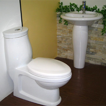 Toilet, Pedestal Wash Basin (Туалет, Умывальник Пьедестал)