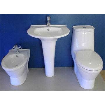 Toilet, Bidet, Basin & Pedestal (Туалет, биде, бассейнов & Пьедестал)