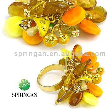 Fashion Crystal Finger Rings