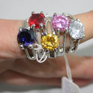 Color CZ Ring