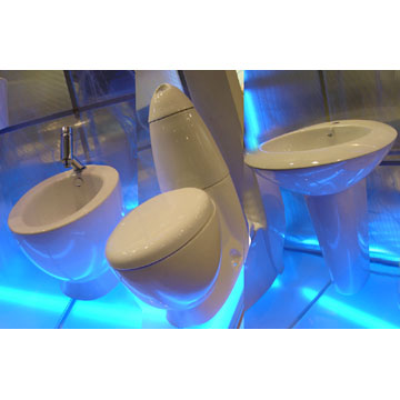Toilet, Bidet and Basin