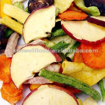 Vacuum Fried Vegetable and Fruit Crisps