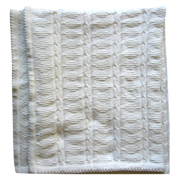 Baby Cable Knitted Blanket (Baby Кабельные Трикотажное Одеяло)