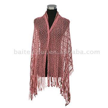 Weft Knitted Scarf (Уток вязаный шарф)