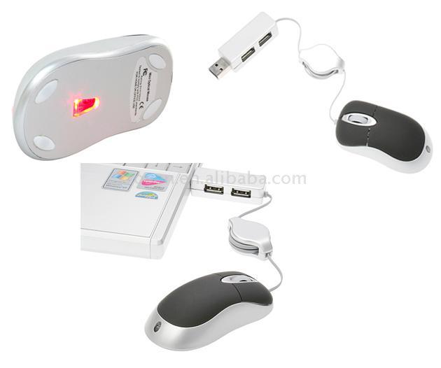 2-In-1 Mini Optical Mouse and Hub (2-В  оптическая мышь и концентраторы)