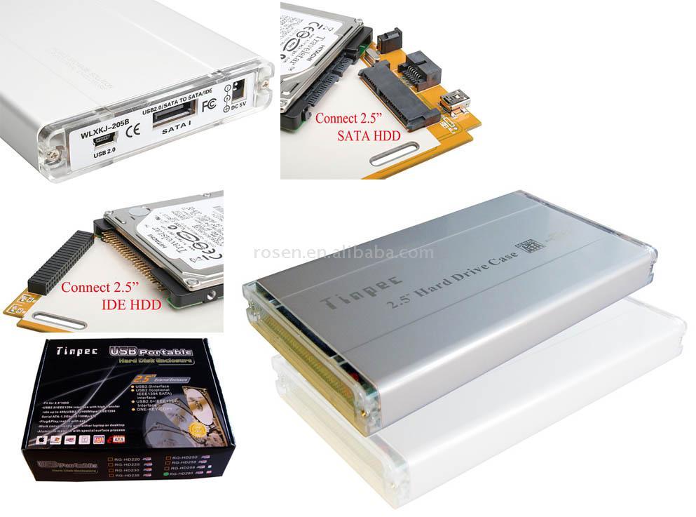 "2.5"" Aluminum Hard Disk Enclosure (2.5 ""жесткий диск алюминиевый корпус)"