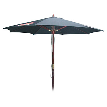 7.5' Wood Market Umbrella - Patio Umbrellas | Outdoor Cushions
