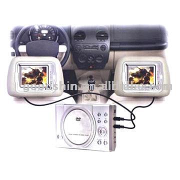 """Car DVD with TWO 7"""" Screens, TV, MP4 Player and Game (Автомобильный DVD с двумя 7 """"Экраны, ТВ, MP4-плеер и игровую)"""