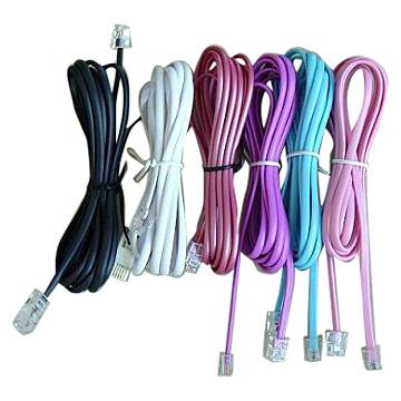 Telephone Line Cords (RoHS Compliance) (Телефонная линия шнуры (RoHS Compliance))