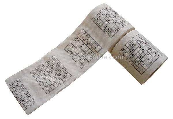 Sudoku Printed Toilet Paper Roll (Судоку Печатный Туалет для рулонной бумаги)