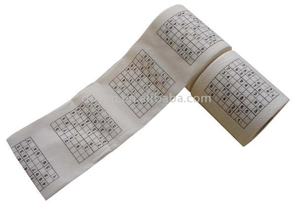 Sudoku Printed Toilet Paper Roll