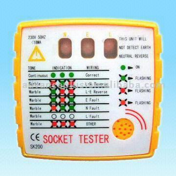 Audible and LED Socket Tester (Звуковые и светодиодные Socket Tester)