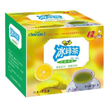 Ice Green Tea (Lemon Flavor) (Glace au thé vert (saveur de citron))